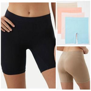 4 Breezies Seamless Long Leg Panties Large NEW P86